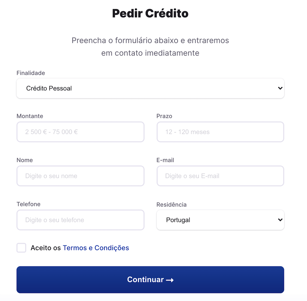 simulador de credito pessoal